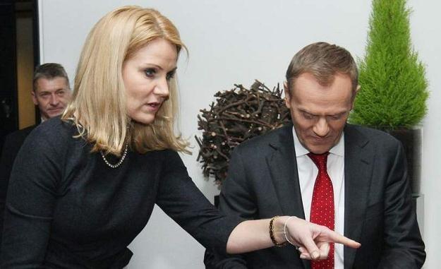 Donald Tusk i premier Danii Helle Thorning/Fot. S. Kowalczuk /Agencja SE/East News