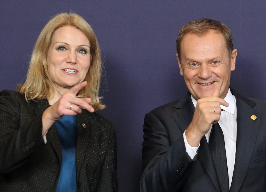 Donald Tusk i premier Danii Helle Thorning-Schmidt /Radek Pietruszka /PAP