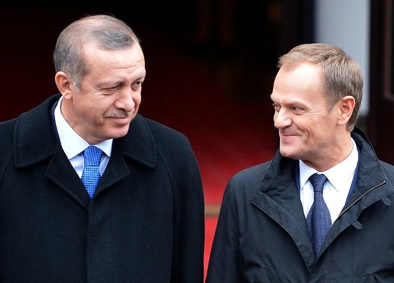 Donald Tusk i Racep Tayyip Erdogan /AFP