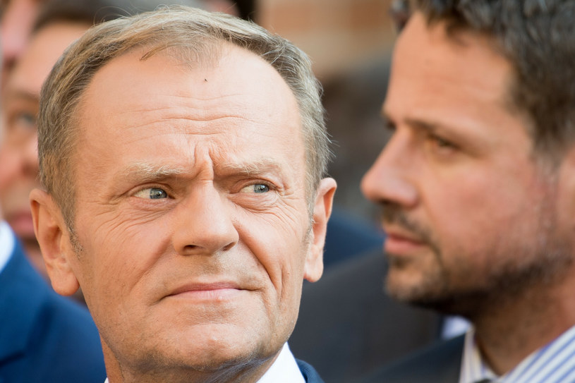 Donald Tusk i Rafał Trzaskowski /Wojciech Stróżyk /East News