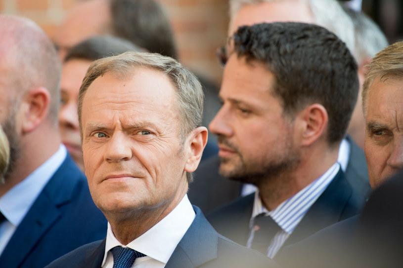 Donald Tusk i Rafał Trzaskowski /Wojciech Strozyk/REPORTER /Reporter