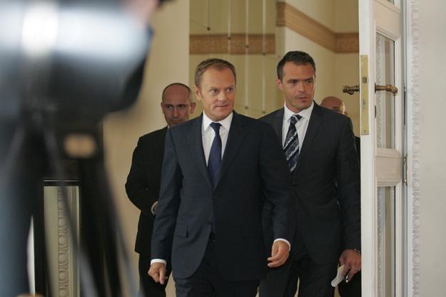 Donald Tusk i Sławomir Nowak/fot. P. Kowalczyk /Agencja SE/East News