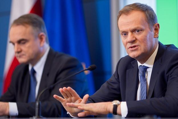 Donald Tusk i Waldemar Pawlak, fot. Jacek Waszkiewicz /Reporter