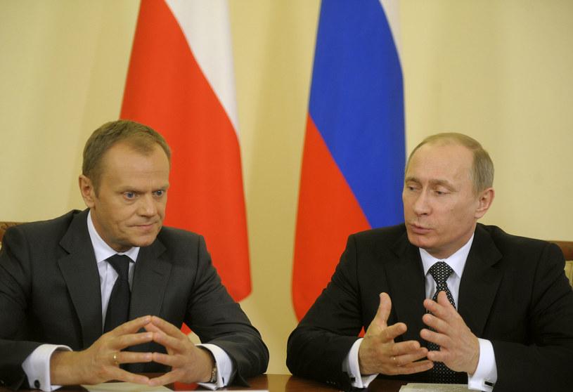 Donald Tusk i Władimir Putin, kwiecień 2010 roku /fot. Adam Chelstowski /Agencja FORUM