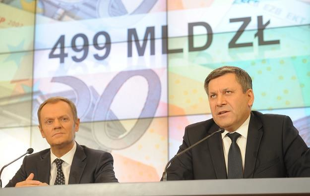 Donald Tusk (L) i Janusz Piechociński (P), wicepremier rządu RP /PAP