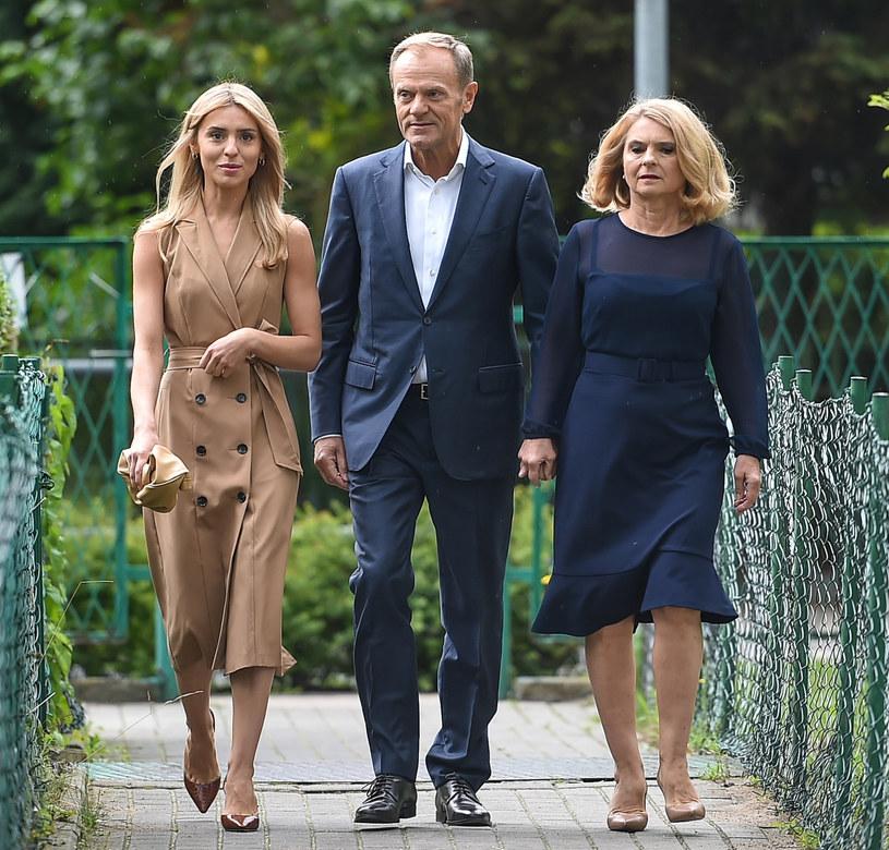 Donald Tusk, Małgorzata Tusk, Katarzyna Tusk /Lukasz Dejnarowicz /Agencja FORUM