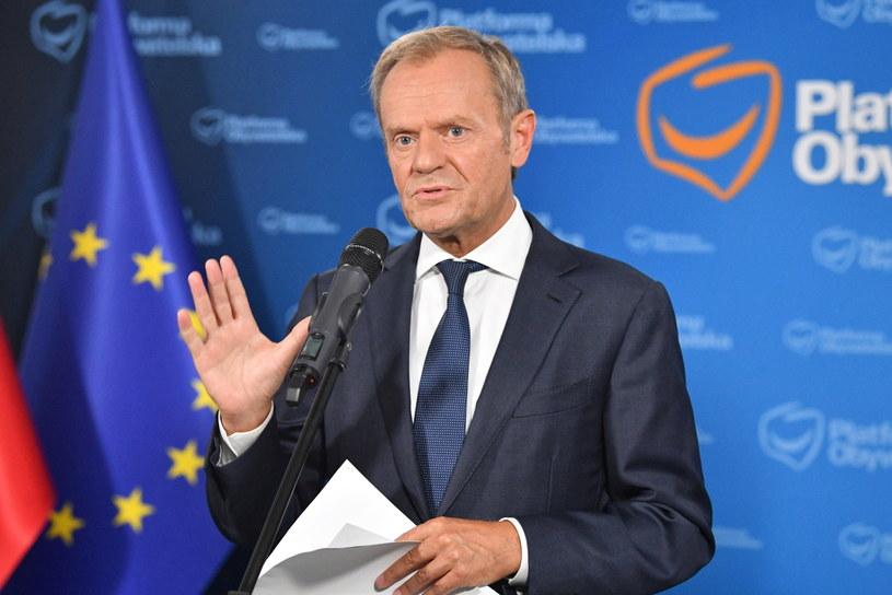 Donald Tusk: Mam jednego oponenta, jednego konkurenta – PiS /Radek Pietruszka /PAP