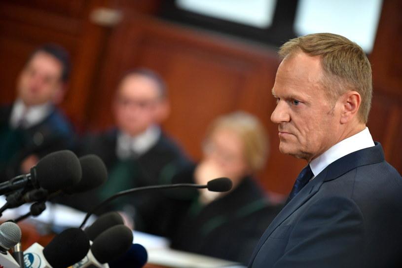 Donald Tusk na sali rozpraw /Bartłomej Zborowski /PAP
