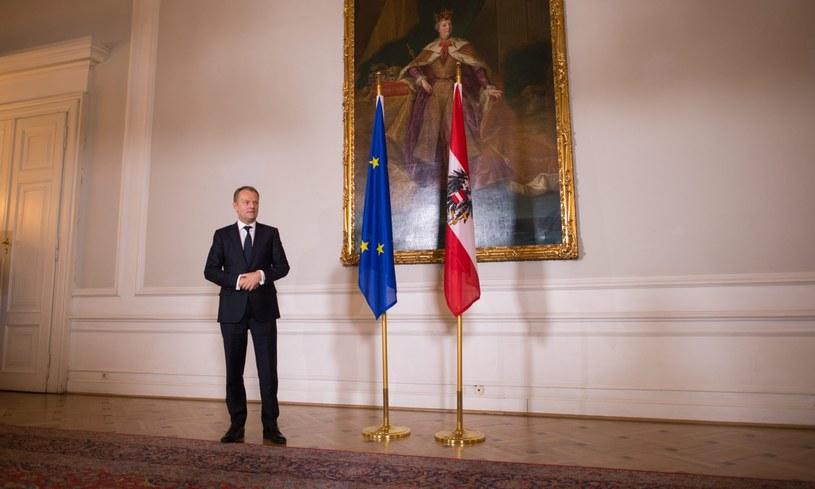 Donald Tusk odwiedził też Austrię /PAP/EPA