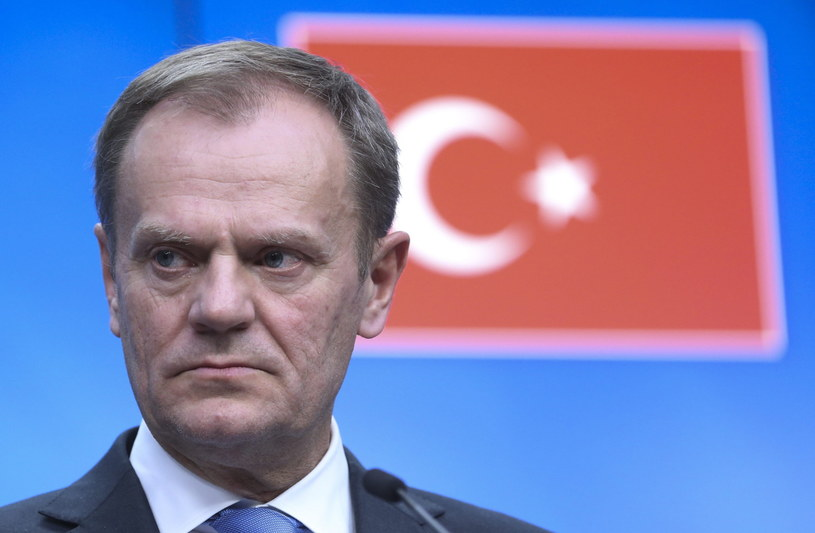 Donald Tusk po szczycie UE-Turcja /OLIVIER HOSLET /PAP/EPA
