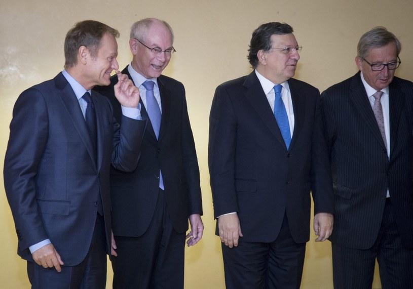 Donald Tusk podczas spotkania w Brukseli /PAP/EPA