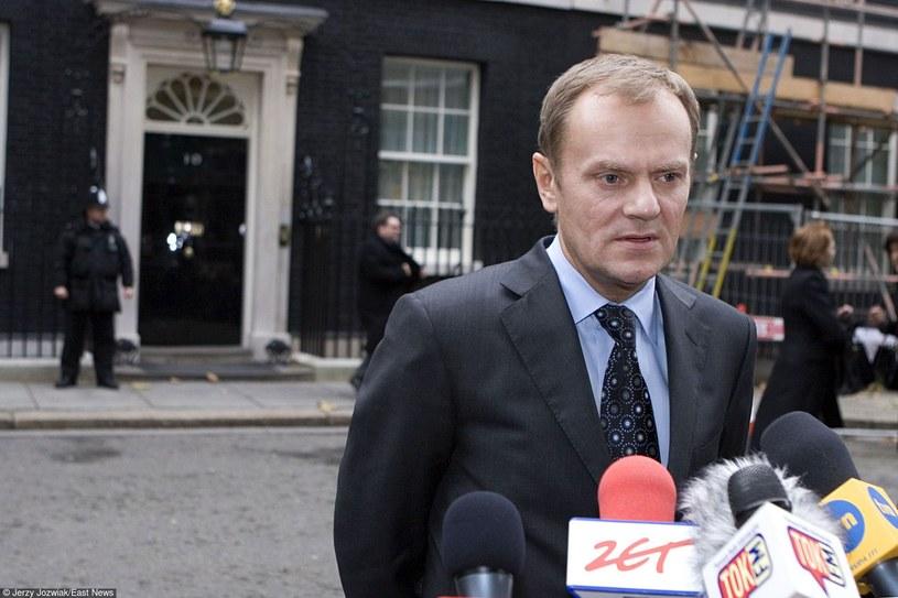 Donald Tusk podczas wizyty w Londynie /Jerzy Jóźwiak /East News
