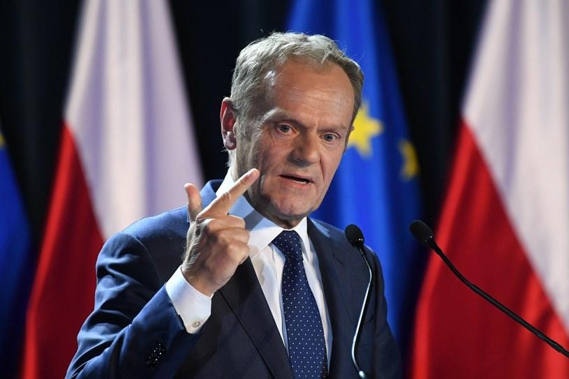 Donald Tusk podczas wygłaszania wykładu /Jacek Domiński /Reporter