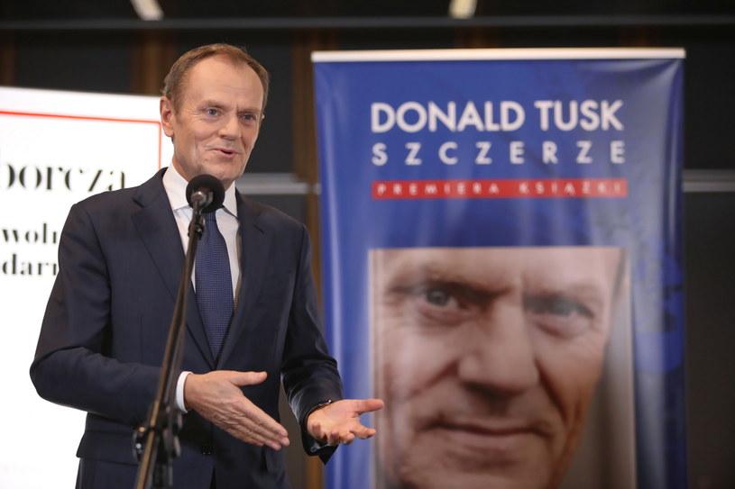 Donald Tusk promuje w Polsce swoją książkę /Leszek Szymański /PAP
