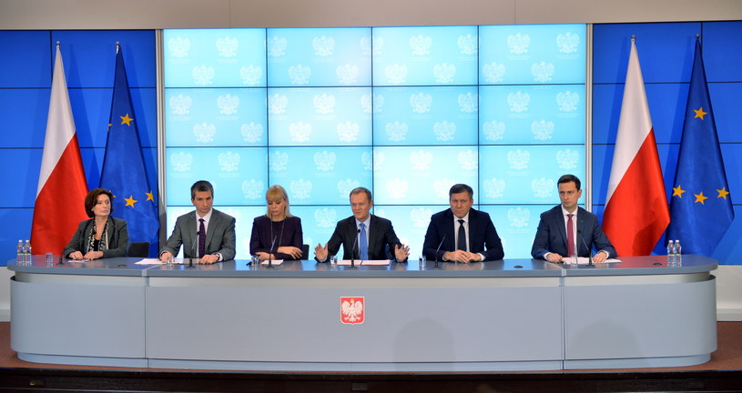 Donald Tusk przedstawił plany rządu na 2014 rok. /Radosław Pietruszka /PAP