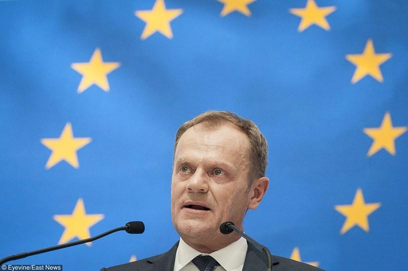Donald Tusk, przewodniczący Rady Europejskiej /Wiktor Dabkowski    /East News