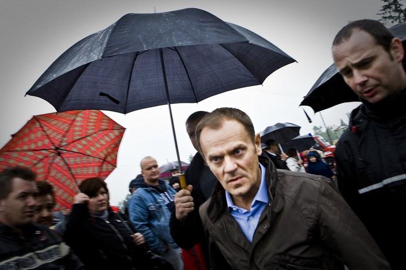 Donald Tusk przypomniał, że dokładnie cztery lata temu doszło w Polsce do wielkich powodzi. /Marcin Kin/Fotonova /East News
