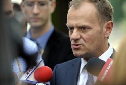 Donald Tusk rozpoczął w piątek wizytę na Ukrainie /AFP