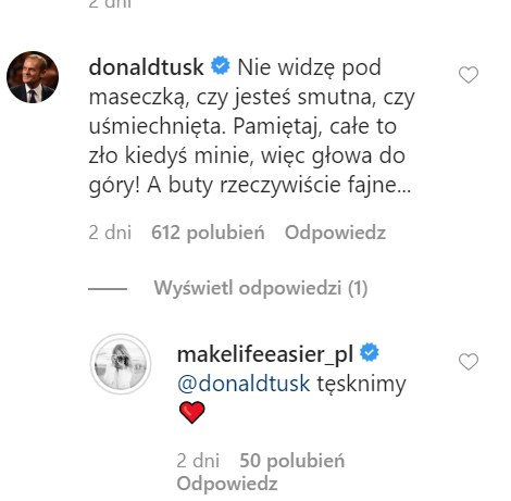 Donald Tusk skomentował najnowsze zdjęcie córki na Instagramie /Instagram/makelifeeasier_pl  /Instagram