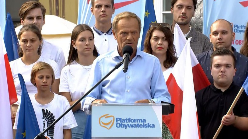 Donald Tusk w Gdańsku /Polsat News /Polsat News