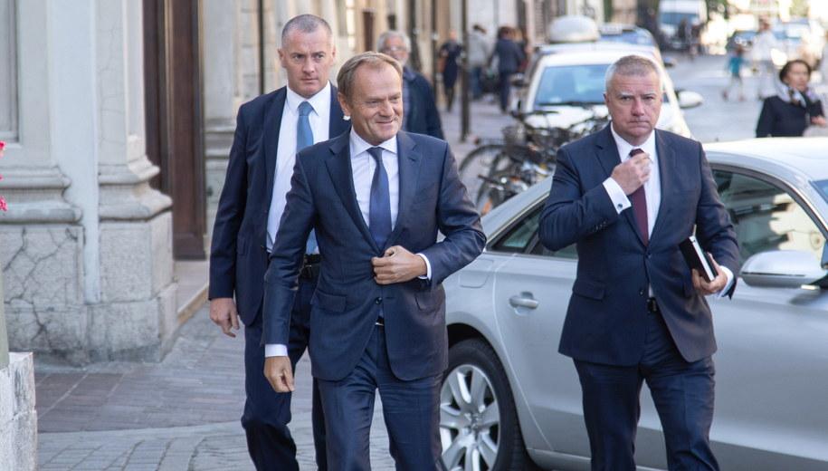Donald Tusk w Krakowie /Jan Graczyński /PAP