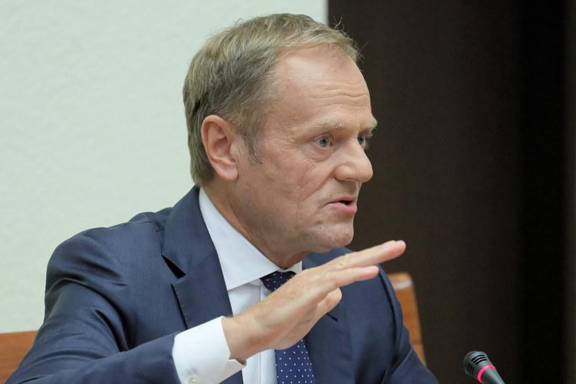 Donald Tusk w poniedziałek zeznawał przed komisją ds. VAT /Paweł Supernak /PAP
