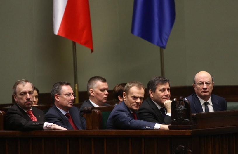 Donald Tusk w Sejmie /Tomasz Gzell /PAP