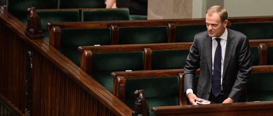 Donald Tusk w Sejmie /Jakub Kamiński   /PAP