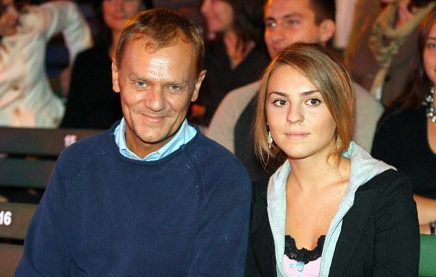 Donald Tusk z córką Kasią, fot.Palicki  /AKPA
