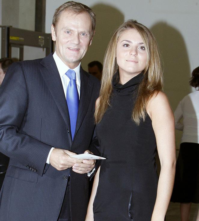 Donald Tusk z córką Kasią /Kurnikowski /AKPA