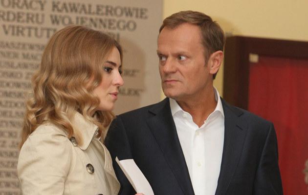 Donald Tusk z córką Katarzyną /Stanisław Kowalczuk /East News