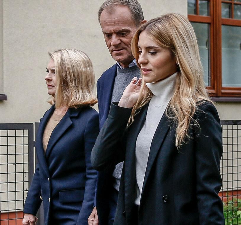 Donald Tusk z żoną i córką /Fot. Karolina Misztal /Reporter