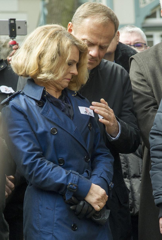 Donald Tusk z żoną Małgorzatą /Wojciech Stróżyk /East News