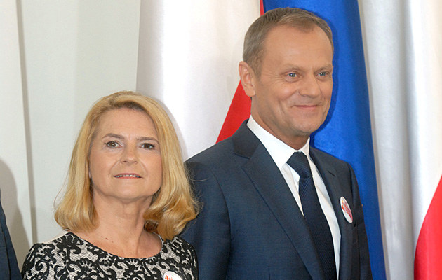 Donald Tusk z żoną Małgosią /Andras Szilagyi /MWMedia