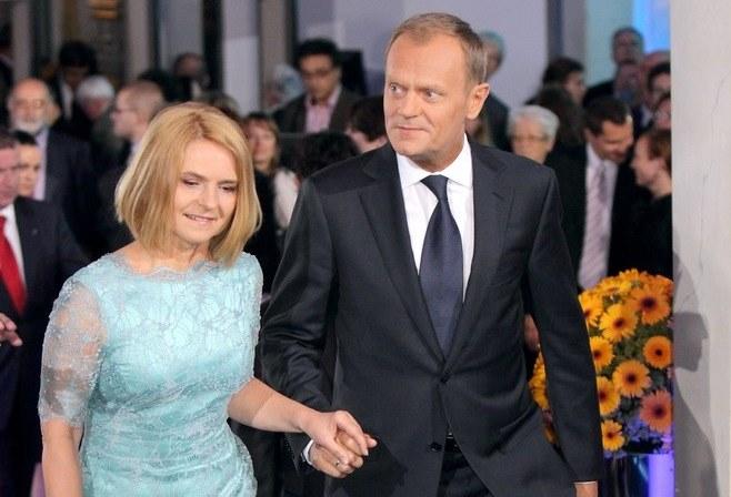 Donald Tusk z żoną /Jan Kucharzyk /East News
