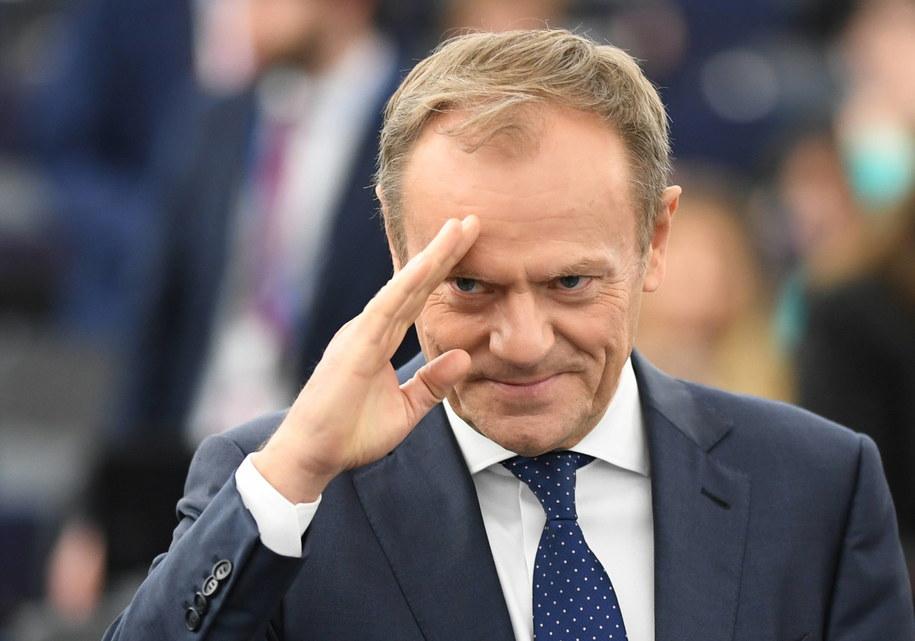 Donald Tusk zaproponował opóźnienie brexitu o kilka miesięcy /Patrick Seeger  /PAP/EPA