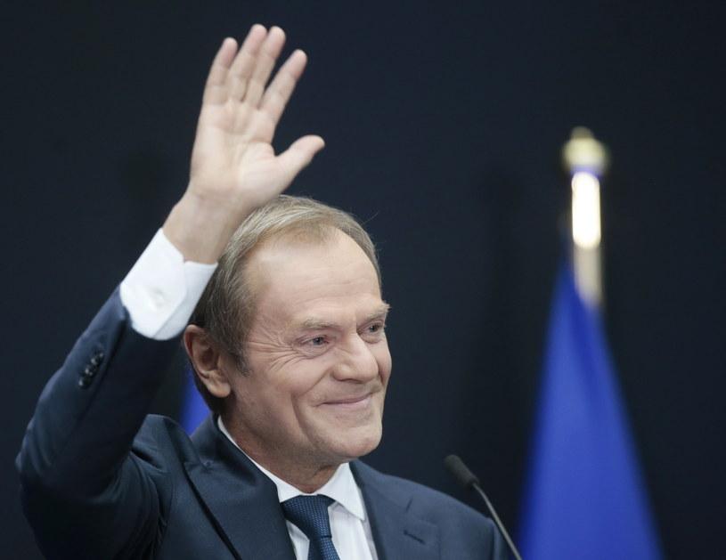Donald Tusk żegna się ze stanowiskiem przewodniczącego Rady Europejskiej /OLIVIER HOSLET /PAP/EPA
