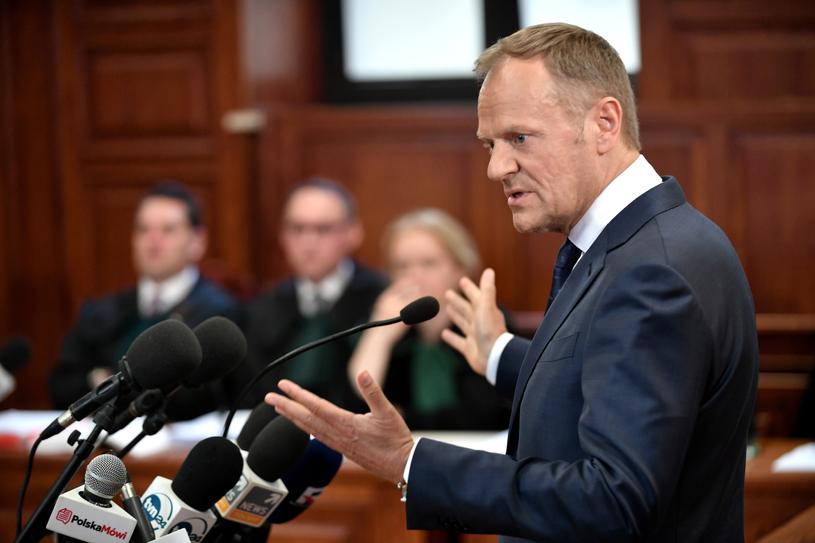 Donald Tusk zeznaje jako świadek /Bartłomiej  Zborowski /PAP
