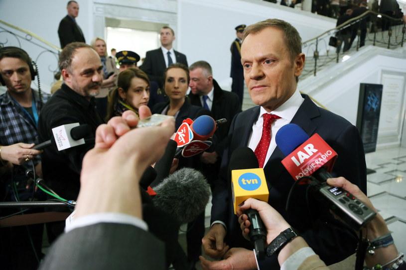 Donald Tusk /Tomasz Gzell /PAP