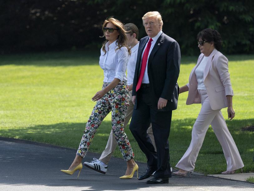 Donald z żoną, synem i teściową /REX/Shutterstock /East News