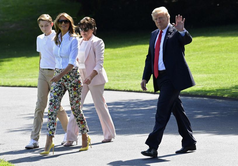 Donalda Trump z żoną, synem oraz teściową /REX/Shutterstock /East News