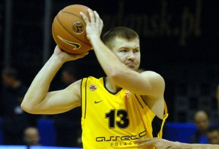Donatas Slanina był najskuteczniejszym graczem Prokomu, fot. Mariusz Kraczaniec /Agencja Przegląd Sportowy