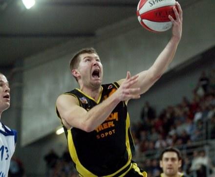 Donatas Slanina w meczu z Anwilem,FOT.Krystyna Pączkowska /Agencja Przegląd Sportowy