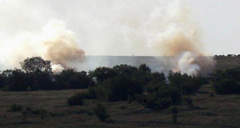 Donieck atakowało lotnictwo i artyleria. /AFP