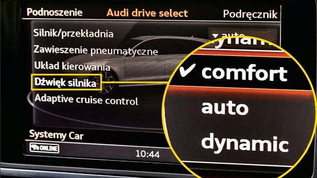 Dopasowanie brzmienia silnika do zachcianek kierowcy jest coraz prostsze – w niektórych autach wystarczy wcisnąć przycisk, ewentualnie wybrać odpowiednią pozycję z pokładowego menu. /Motor