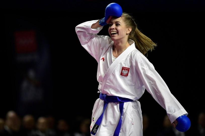 Dorota Banaszczyk cieszy się ze złotego medalu /East News