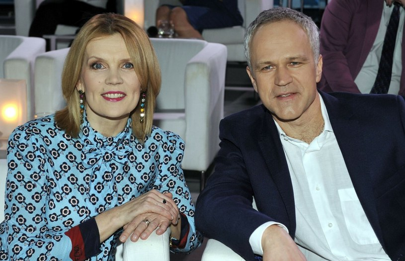 Dorota Chotecka i Radosław Pazura na zdjęciu w 2018 roku /Mieczyslaw Wlodarski /Reporter