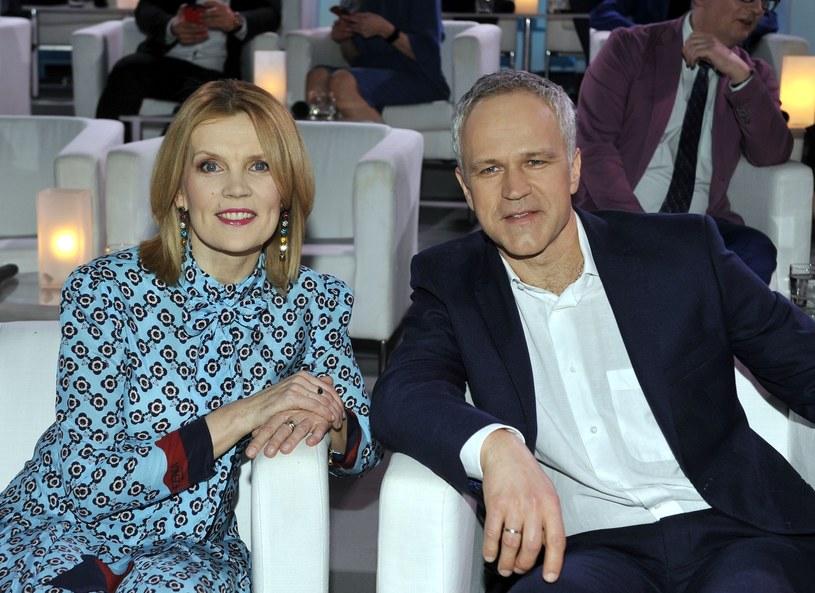 Dorota Chotecka i Radosław Pazura /Włodarski/REPORTER /East News