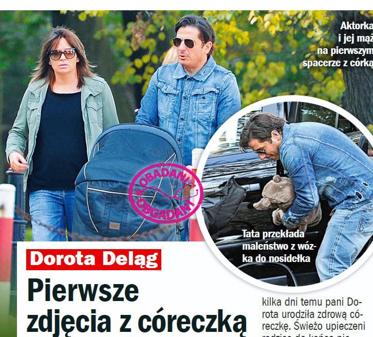 Dorota Deląg z córką i mężem /Życie na gorąco