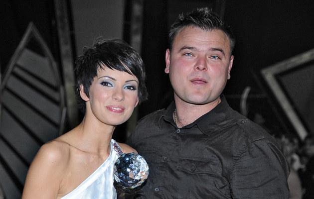 Dorota Gardias-Skóra z mężem Konradem /fot.Andras Szilagyi  /MWMedia